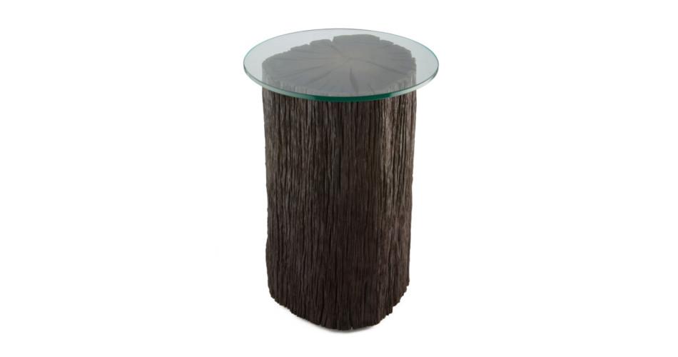 Bog Oak Tree Trunk Side Table