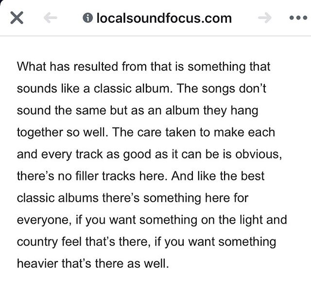 Thanks a lot to Frank Roper from @local_sound_focus for this dope review of our debut album! For the full review visit localsoundfocus.com #sifakamusic