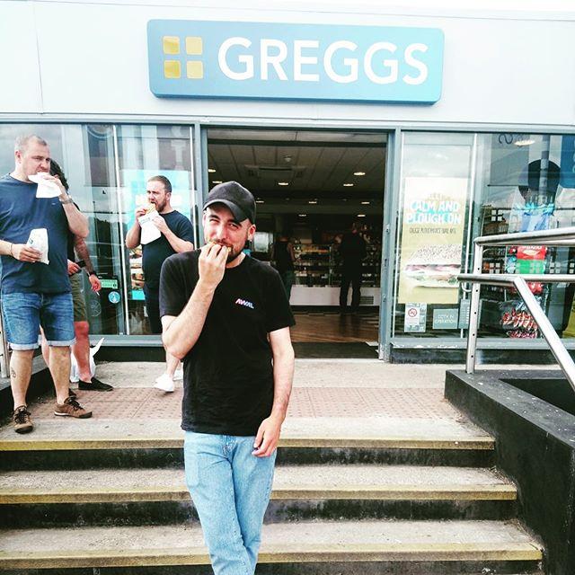 Thank you London. Next up Huddersfield... • • • #meneatinggregs @greggs_official