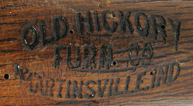 Defining And Identifying Antique Old, Hickory Furniture Company