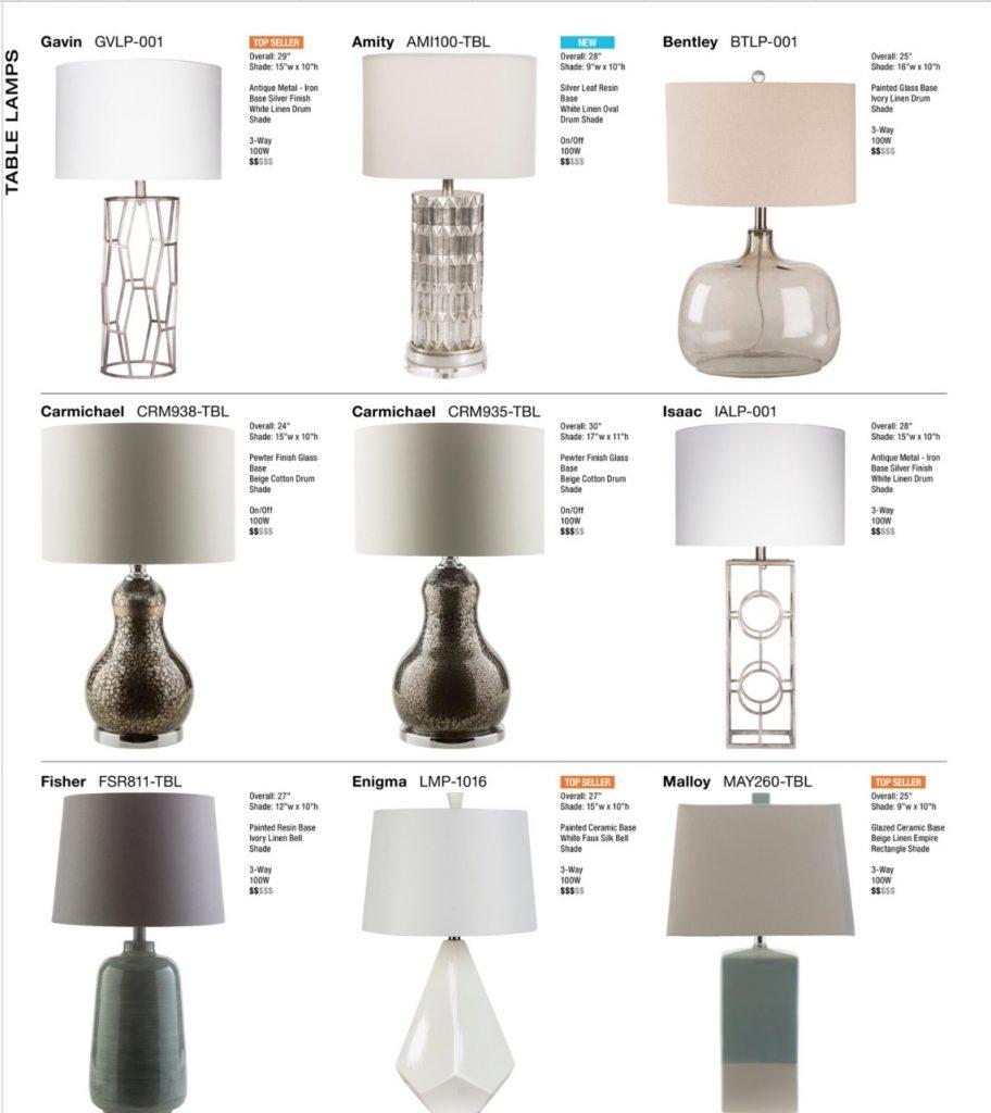 Surya Table Lamps