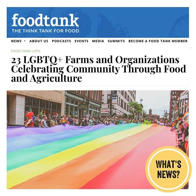 """""""LGBTQ+ community leaders around the globe continue to fight for lasting change. In honor of Pride Month, Food Tank is highlighting 16 collectives, farms, and other organizations that are working to strengthen LGBTQ+ representation in the food system and give back to their communities.""""? ? ? Check out this list! If you know of and are willing to share any LGBTQ+ food producers, farmers, dietitians, and better ag advocates, tag them in the comments!? ? ? ? ? ? ? ? ? ? ? ? ? ? #pridemonth2020 #foodpride #lgtbqfarmers #lgbtqrights #foodjustice #foodequality #knowyourfarmer #knowyourrancher #farmtotable #communitygardens #regenerativeagriculture #communityfood? ? https://foodtank.com/news/2020/06/16-lgbtq-farms-and-organizations-celebrating-community-through-food-and-agriculture/"""