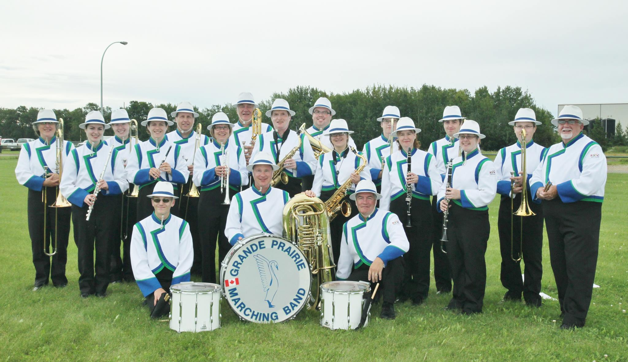 The Grande Prairie Marching Band from Alberta, Canada