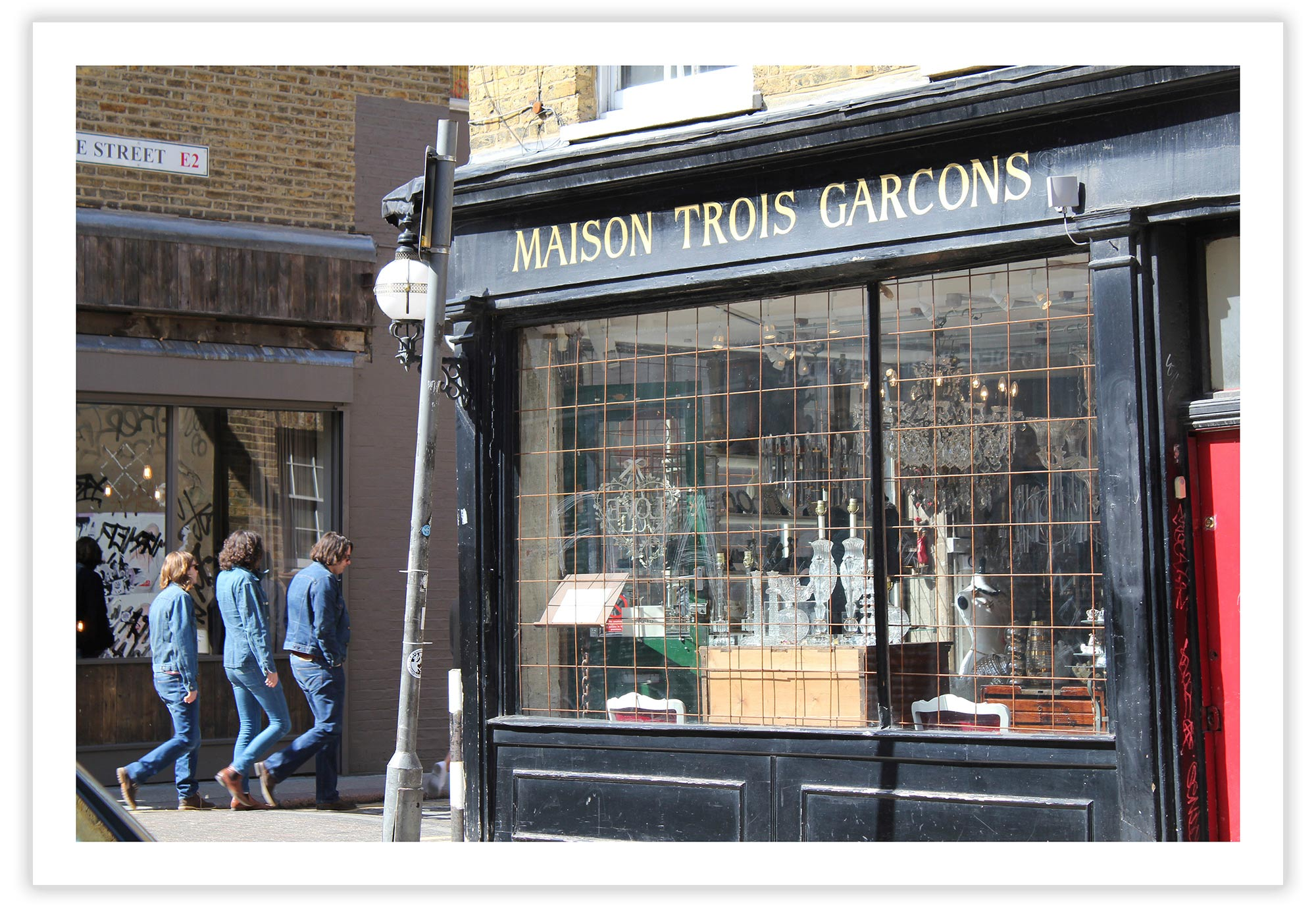 Trois Garcons, London 2011.  Click to buy