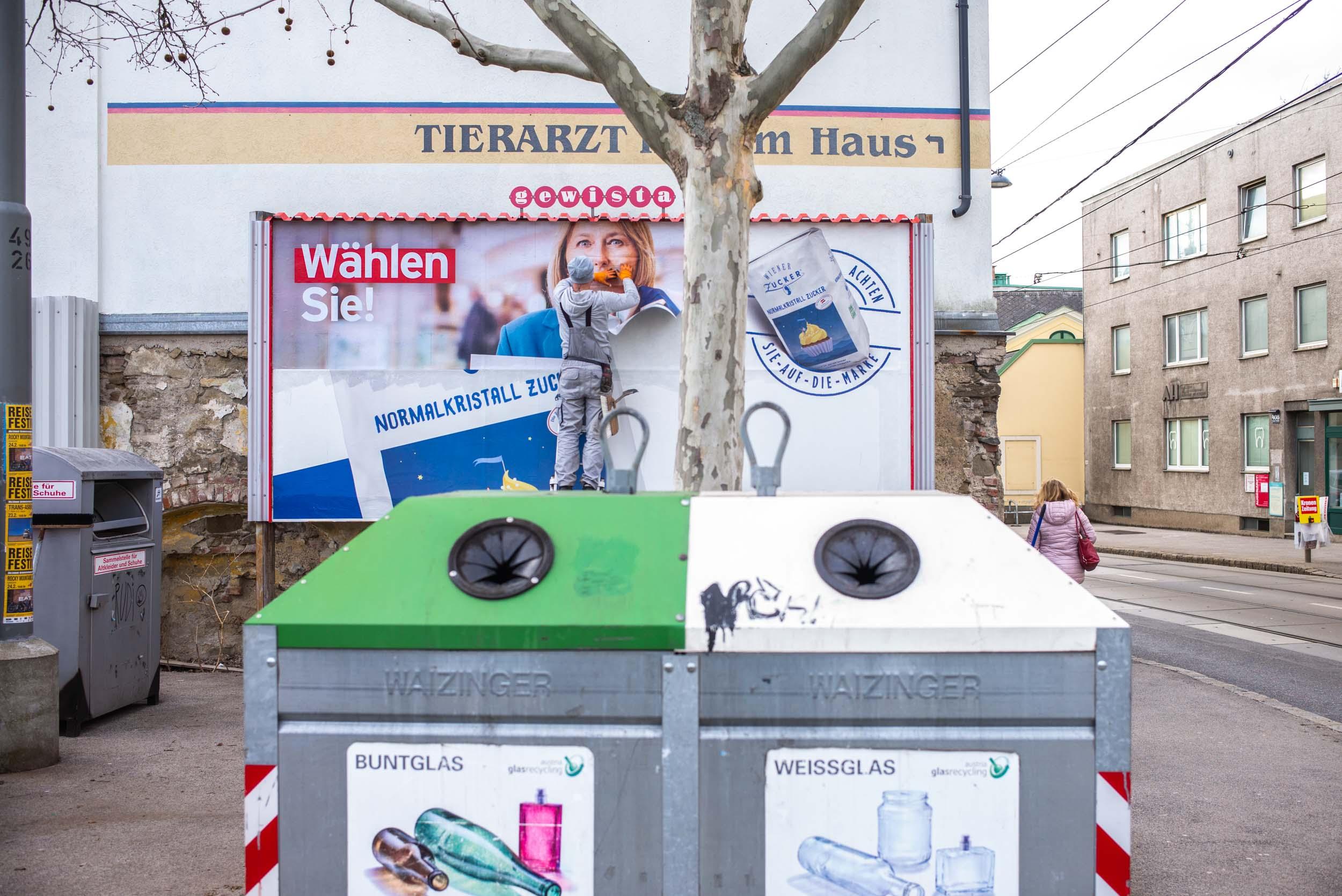 Silence in the Street. Vienna, Austria 2019