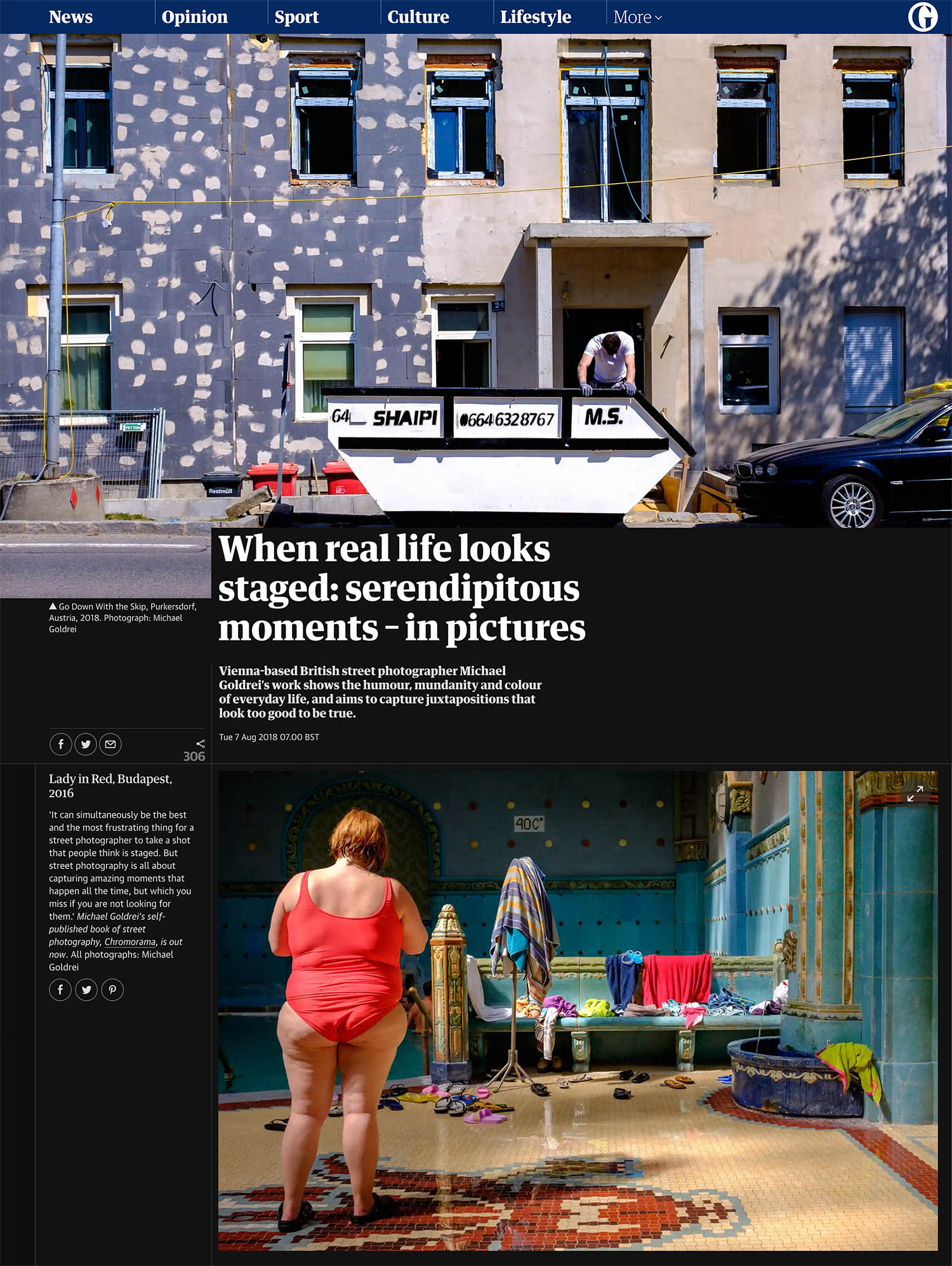 The Guardian - The Guardian featured my street photography in Aug 2018, highlighting shots from my book 'chromorama'.