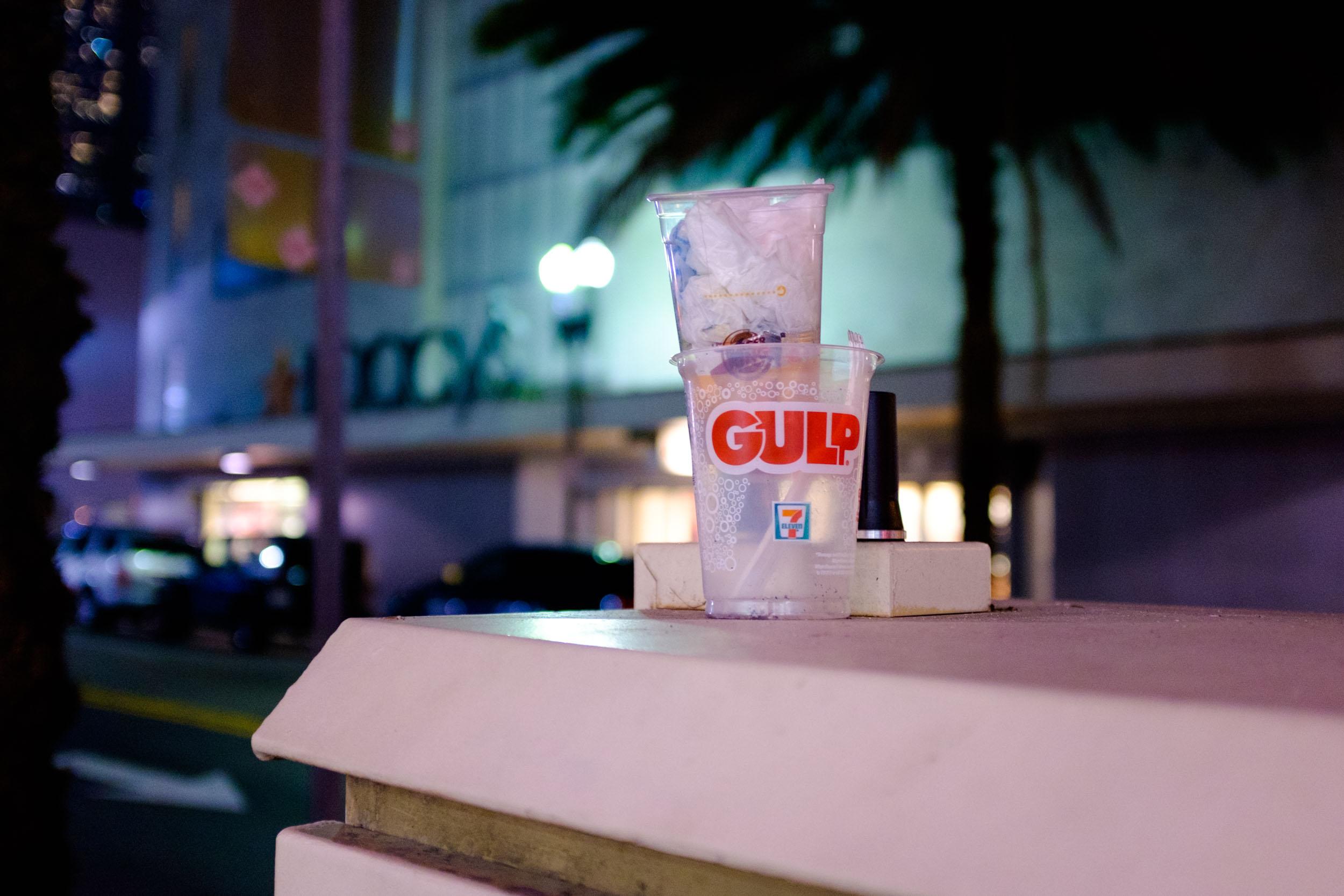 Two Plastic Cups. Miami 2017