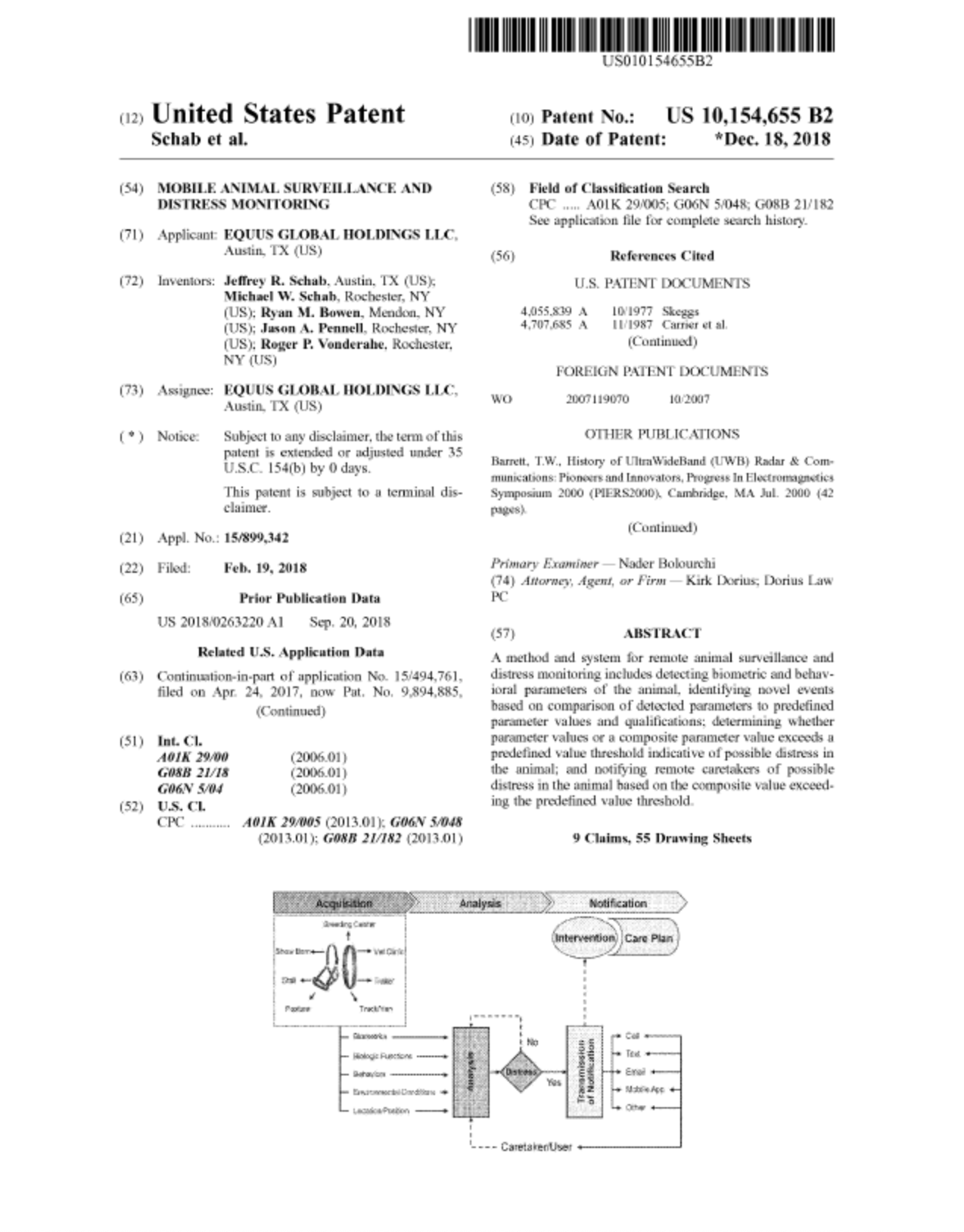 US patent no. 10,154,655