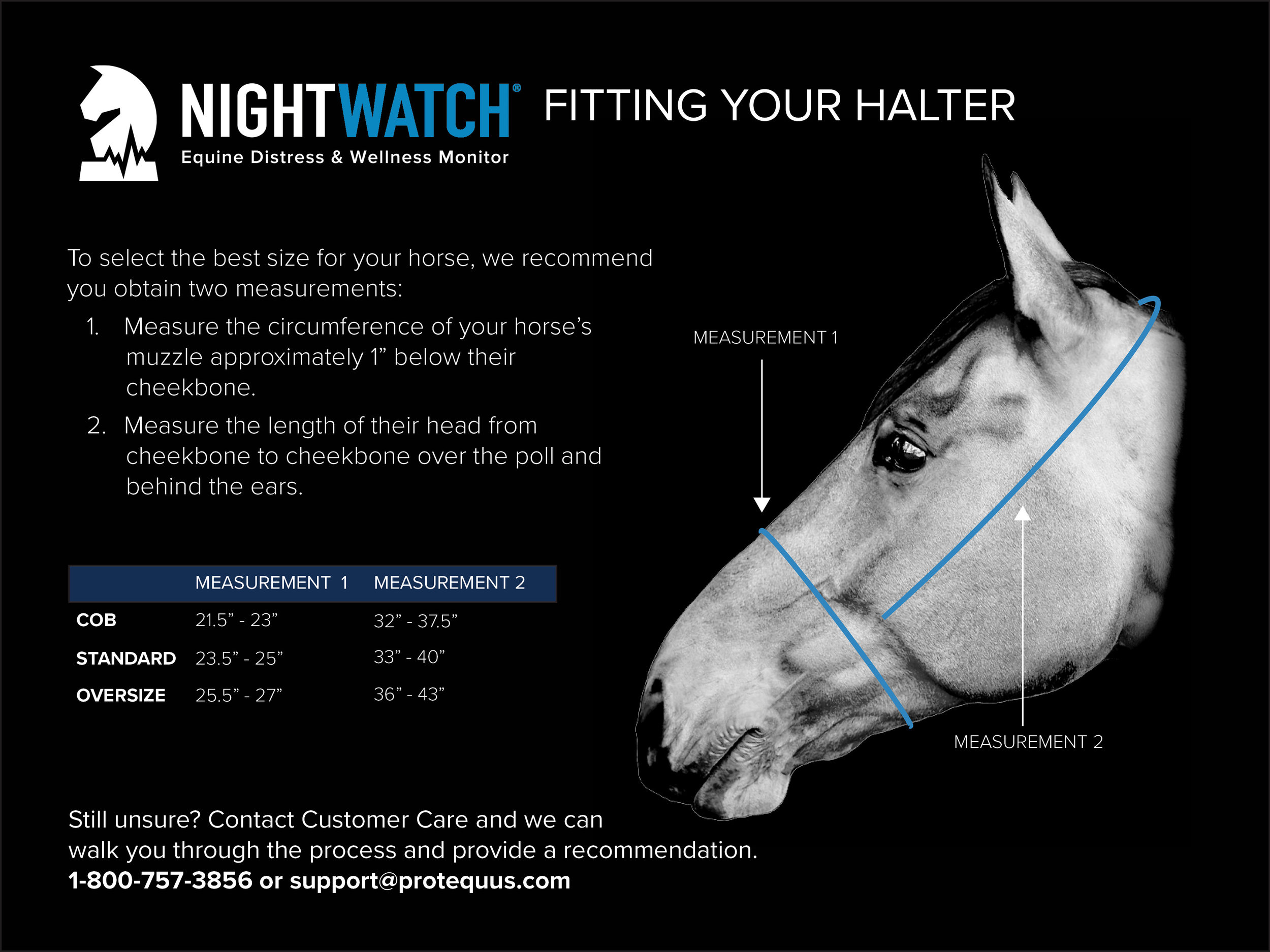 NIGHTWATCH® Halter Fitting Guide