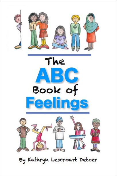 the ABc Book of feelings - Delightful and playful characters illustrate all the emotions, literally from A to Z, not just happy and sad. The perfect discussion starter for kids including those unable or unwilling to express what they are thinking and feeling. This paper-backed small volume is excellent for opening up those deeper conversations. Great for classroom discussion, therapy or at-home interactions. $15