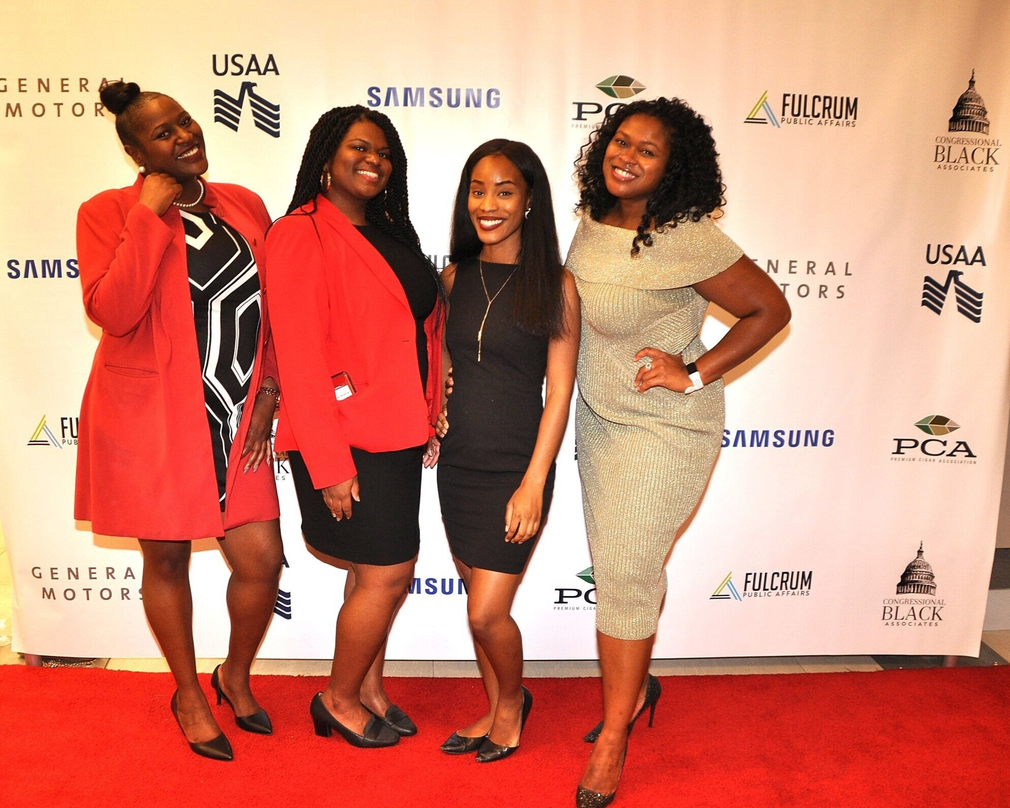 Ladies of CBA Executive Board: Alaura Ervin (Secretary); Audra Jackson (President); Herline Mathieu (Communications Chair); Ashley Bunn (Professional Development Chair)
