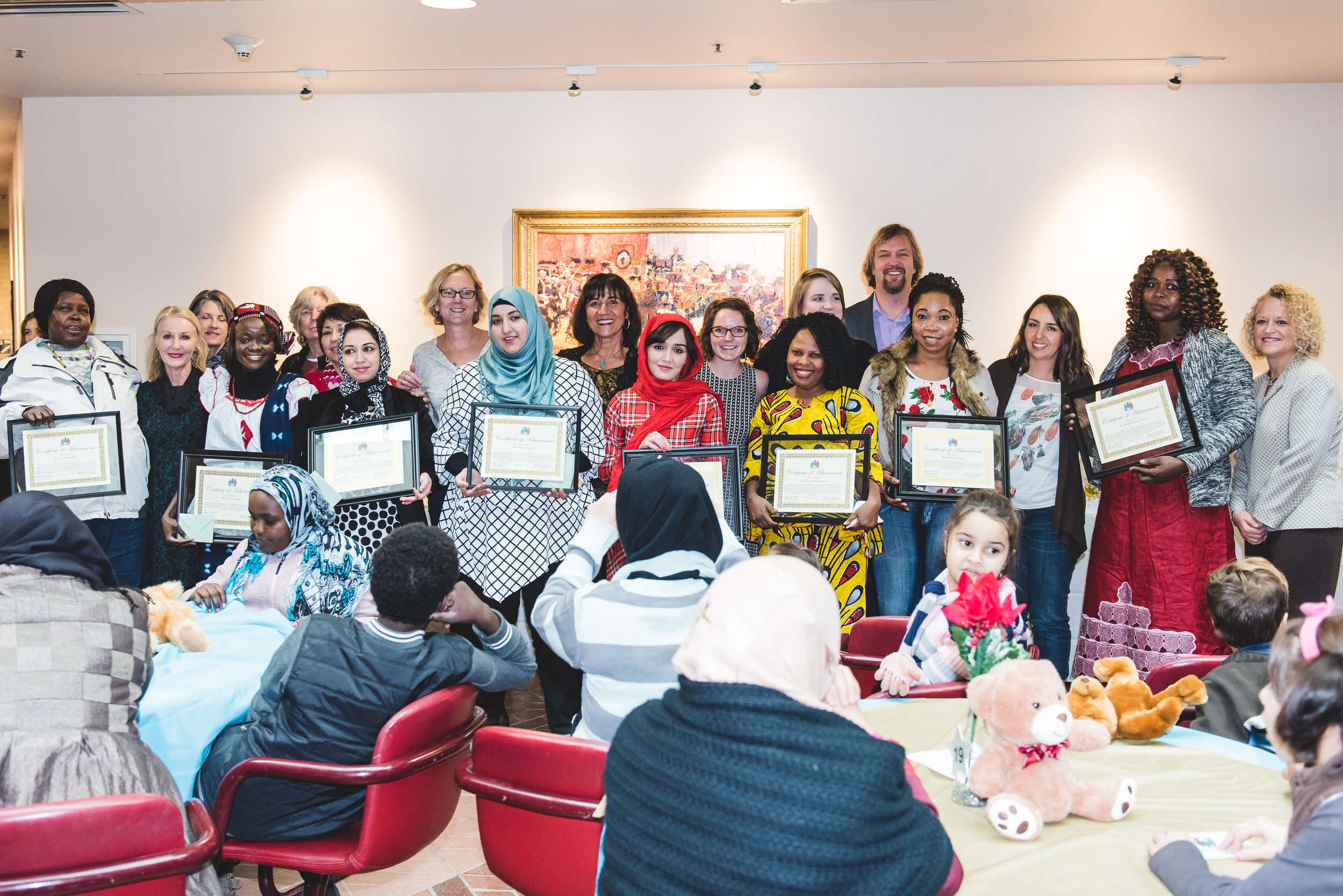 Graduates and teachers of Women of the World's English classes.