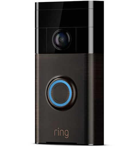 Video Doorbells - The Ring Video Doorbell is both a security and a convenience game changer. Receive an alert to your phone in real time when someone rings your doorbell. You will see a video of them and be able to talk to them through your phone, whether you are at home or away! You can also elect to have the Ring record a video any time someone approaches your home which can then be sent to law enforcement if needed.