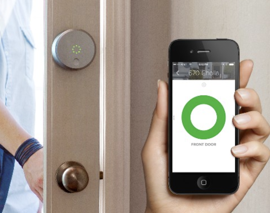 Smart Locks - Smart Door Locks are another convenience and security powerhouse. The locks can automatically sense via your cell phone when you arrive or leave your home and lock or unlock the doors accordingly. You can check whether your doors are locked from the convenience of your phone whether you are upstairs in bed or at the office. Remotely unlock the door for a cleaning lady or repairman, and if your phone is ever lost you can instantly suspend access to your home with that phone.