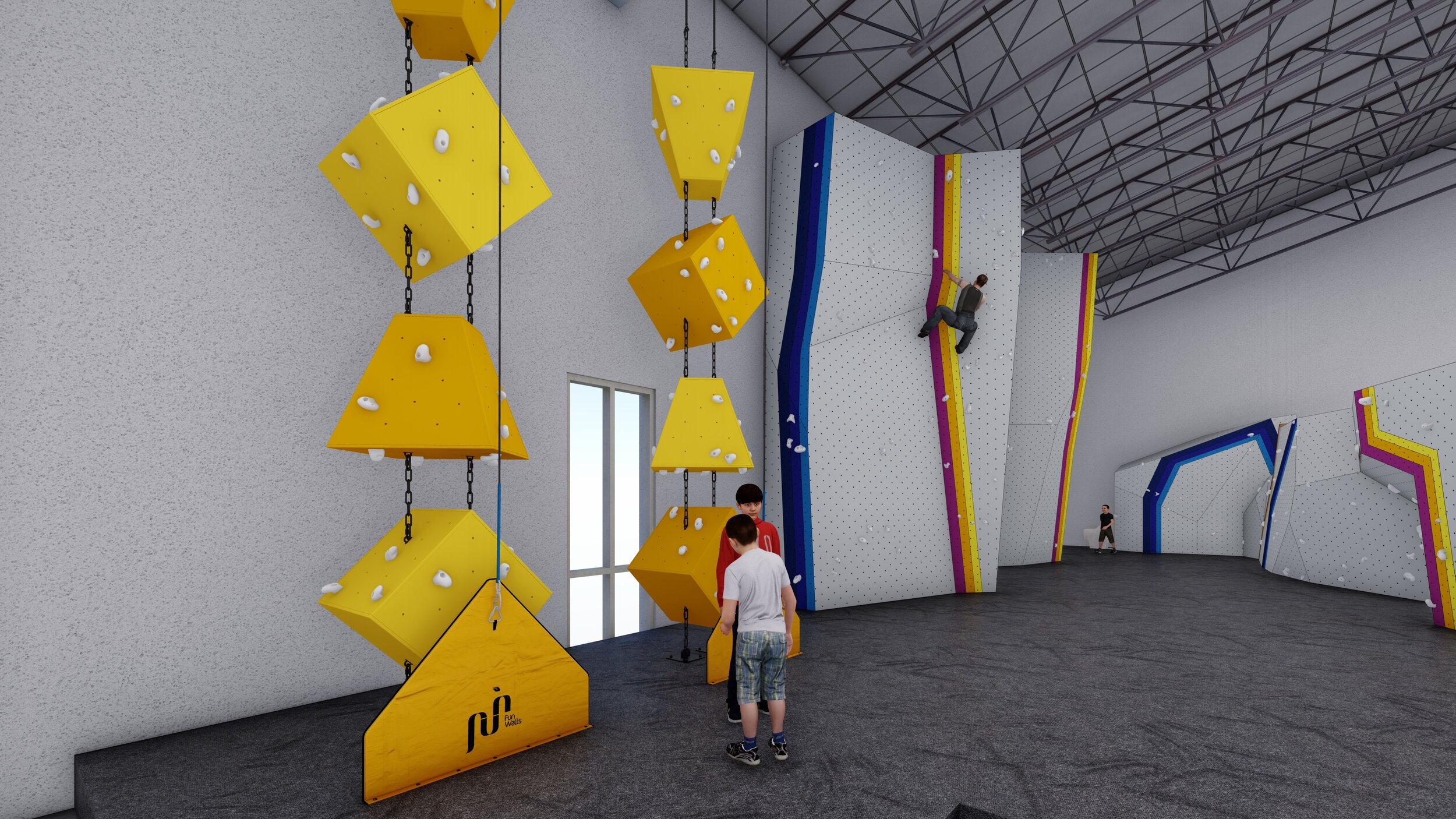 Kids Climbing Cove offers something for all ages + comfort levels.