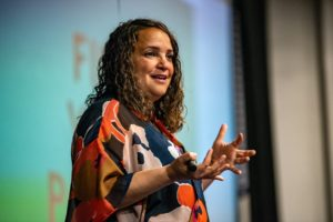 Rosie speaks at the 2018 We Are Girls Austin Conference Keynote