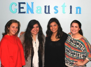 Madison Weigand, Gracie Padilla, Karen Gaytan and Sidney Kenley (left to right)
