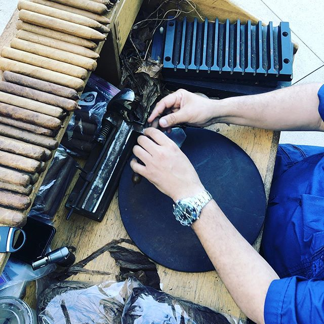 The art of rolling #cigars. #vcutcigarlounge