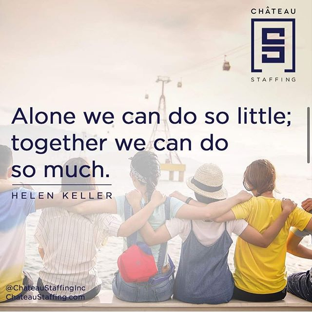 We can do so much together.