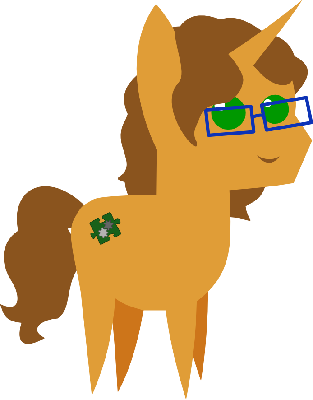 Caramel Truffle. My pony OC. His cutie mark represents my ability to look at a piece of software and both understand how it works and how it fit in the bigger picture.
