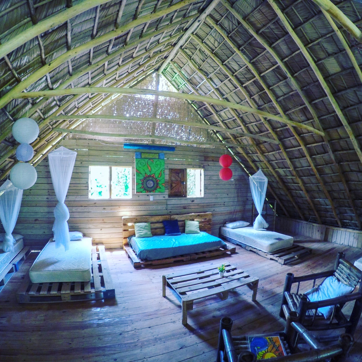 Groups Room - Shared room comes with cosy single bed, mosquito nets, bamboo furniture, balcony swingsShared Room $1250 Per Person