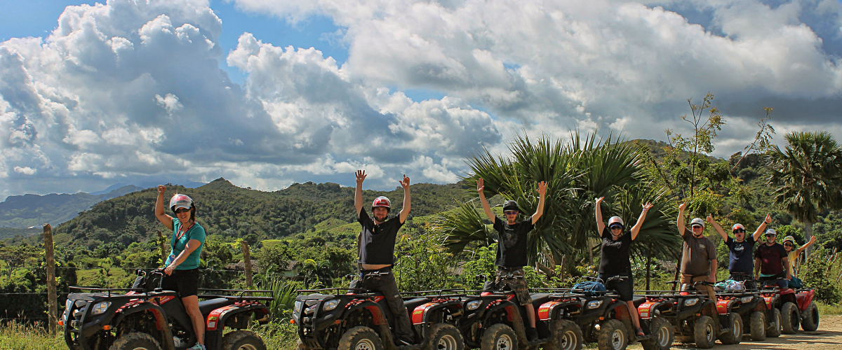 a.t.v. quod biking - cruise through the Dominican jungles, witness the beaches and landmarks on the exciting tour around Samana $100 per person