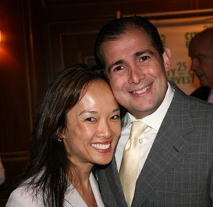 Image of Arthur F Backal with wife Liana Silverstein Backal