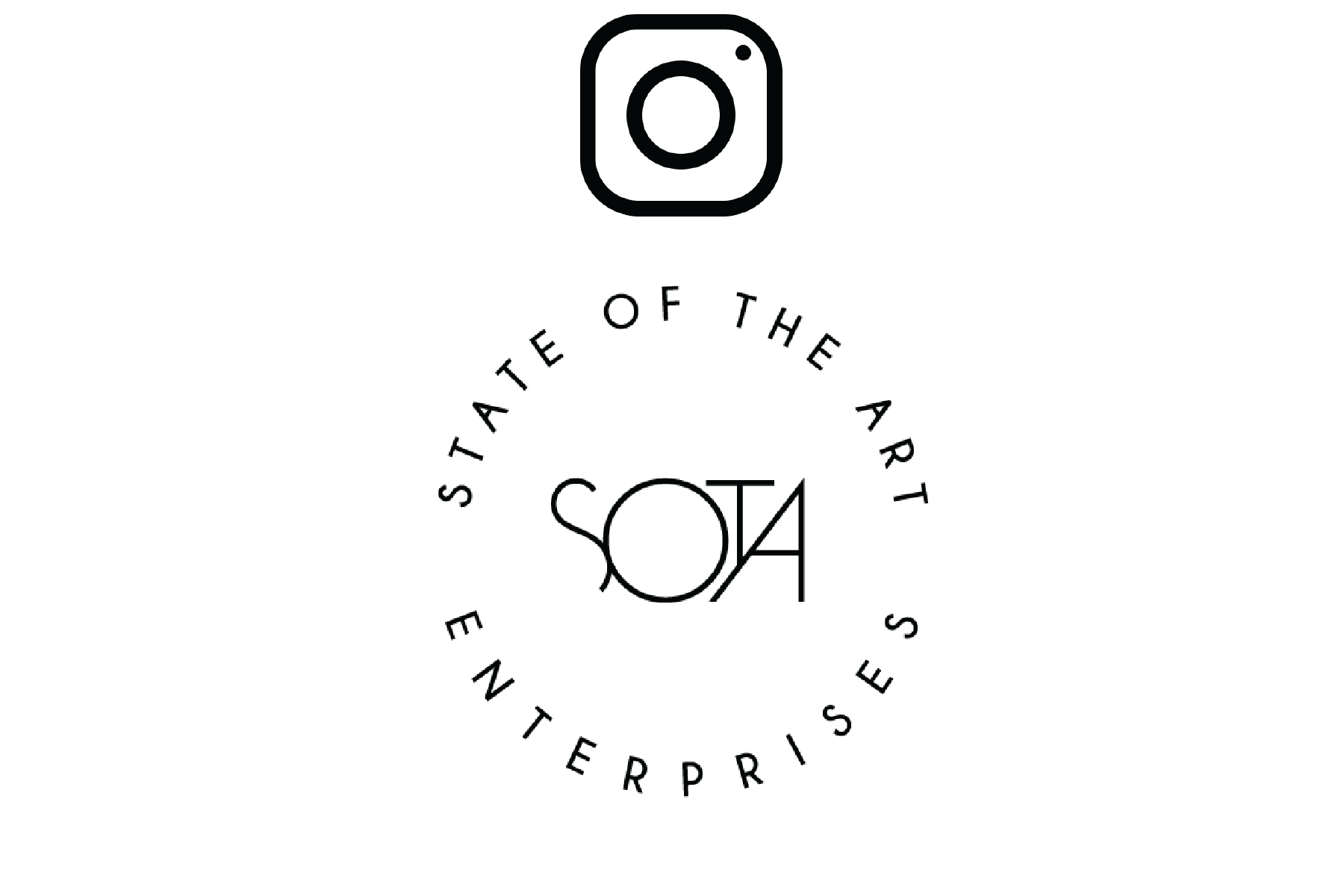 Image of State of the Art logo with redirect to instagram page when clicked