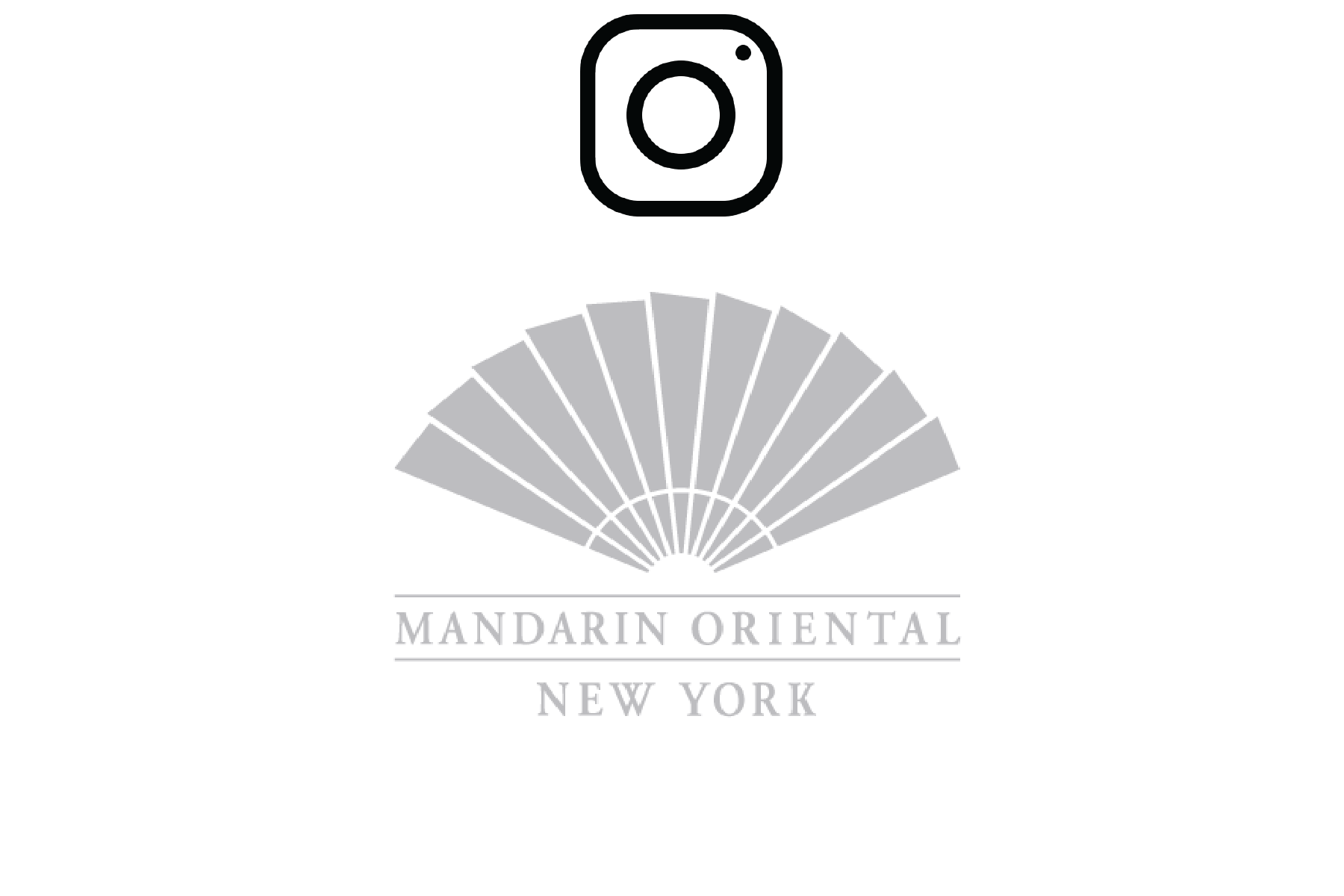 Image of Mandarin Oriental New York City logo with redirect to instagram page when clicked