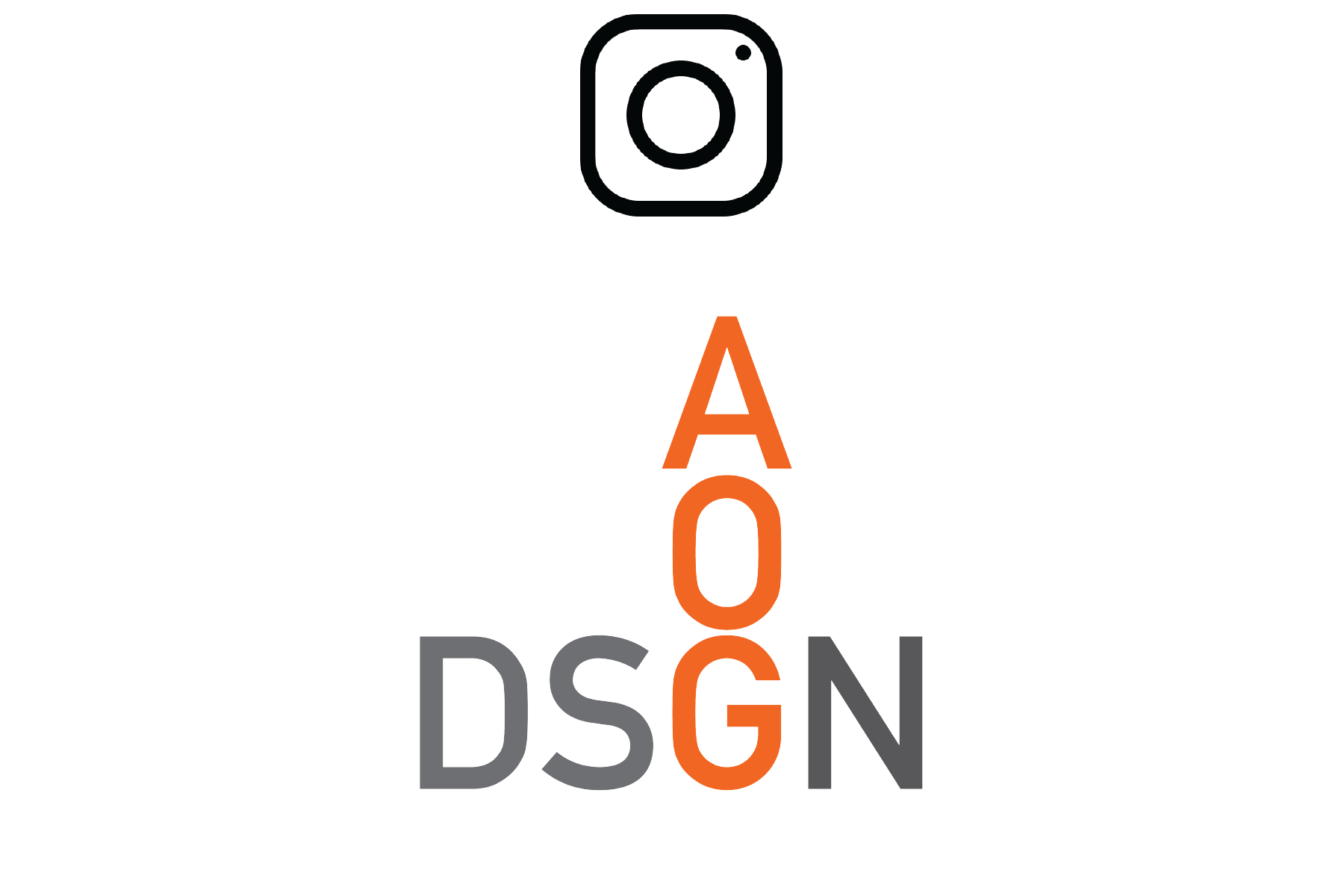 Image of AOG Design logo with redirect to instagram page when clicked