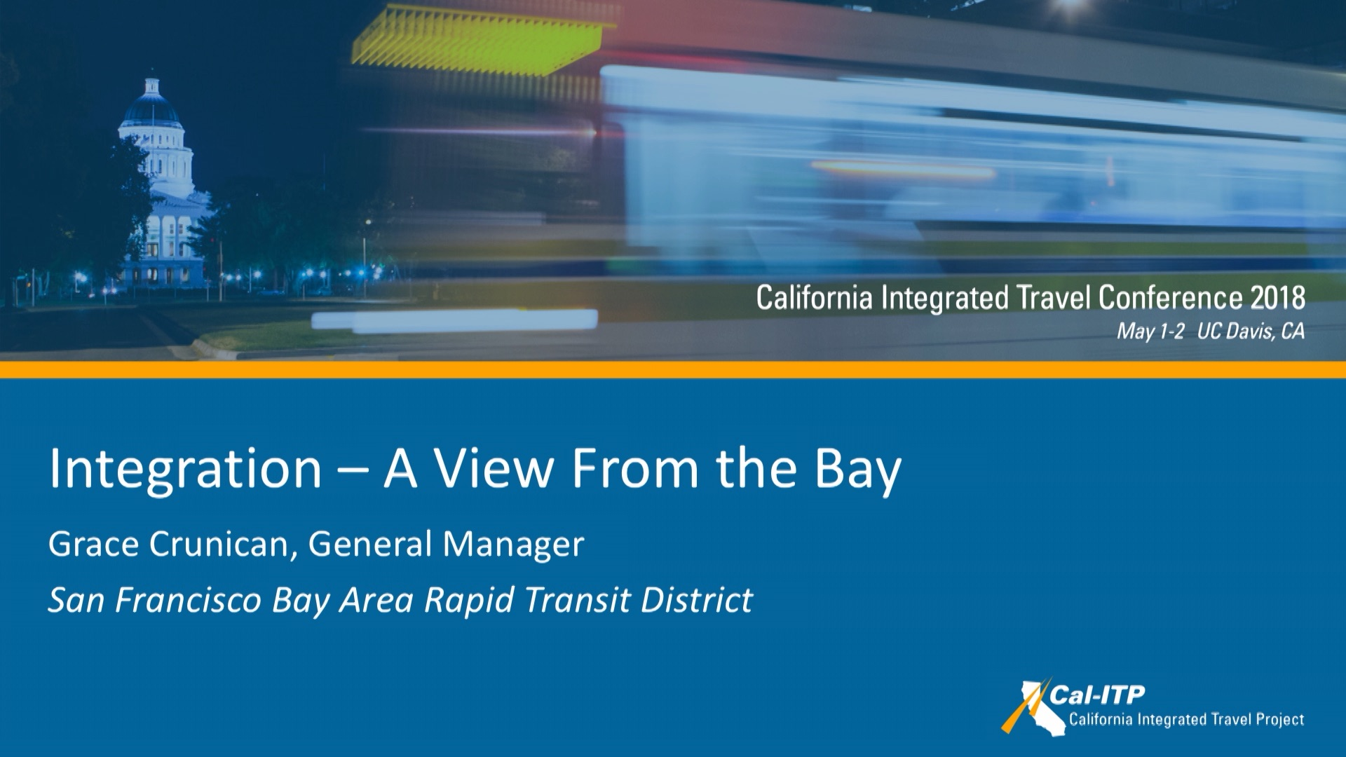 5. Integration - A View from the Bay