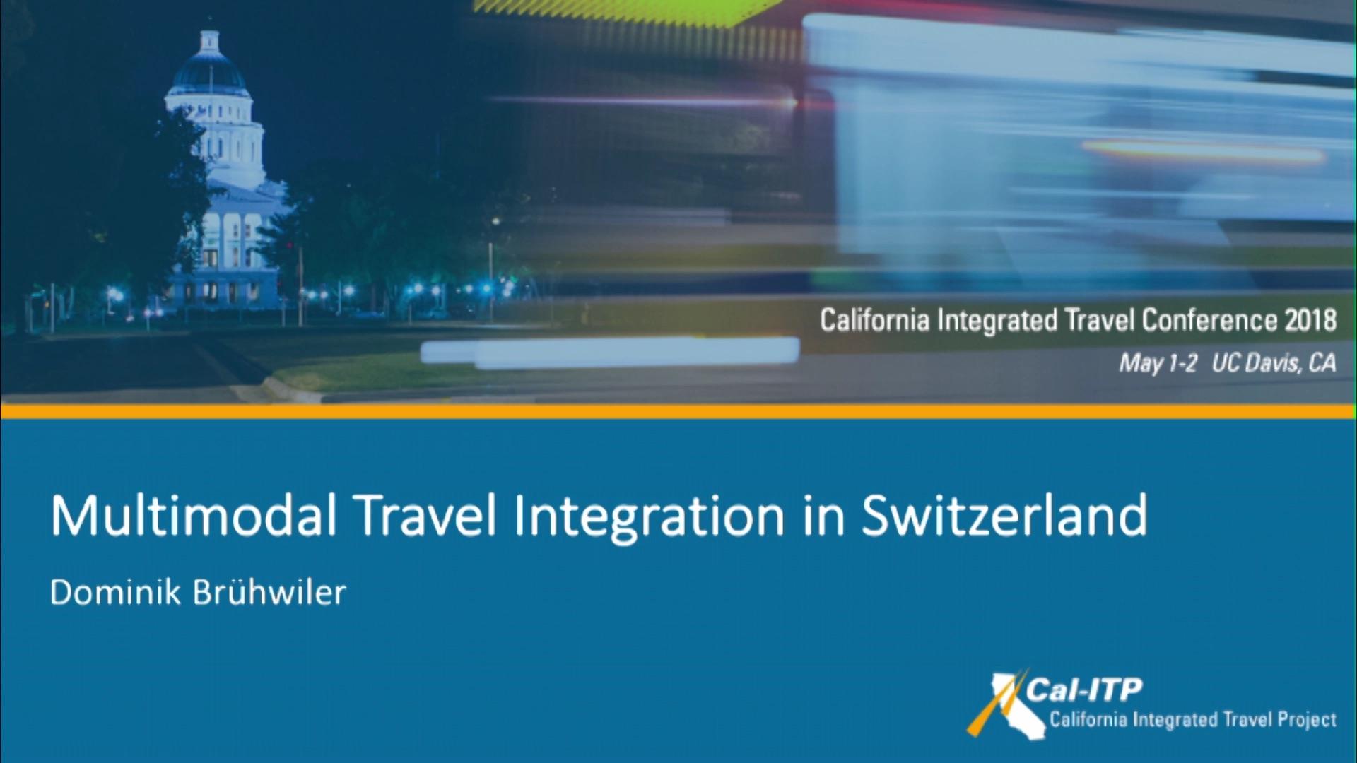 12. Multimodal Travel in Switzerland