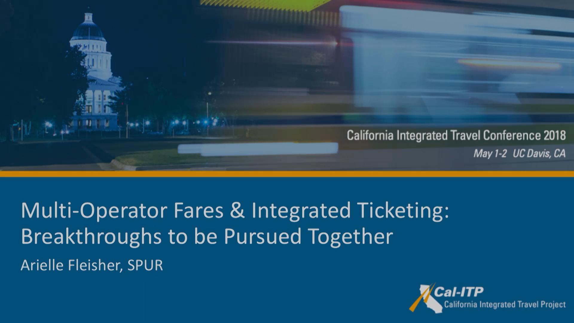 23. Multi-Operator Fares & Integrated Ticketing