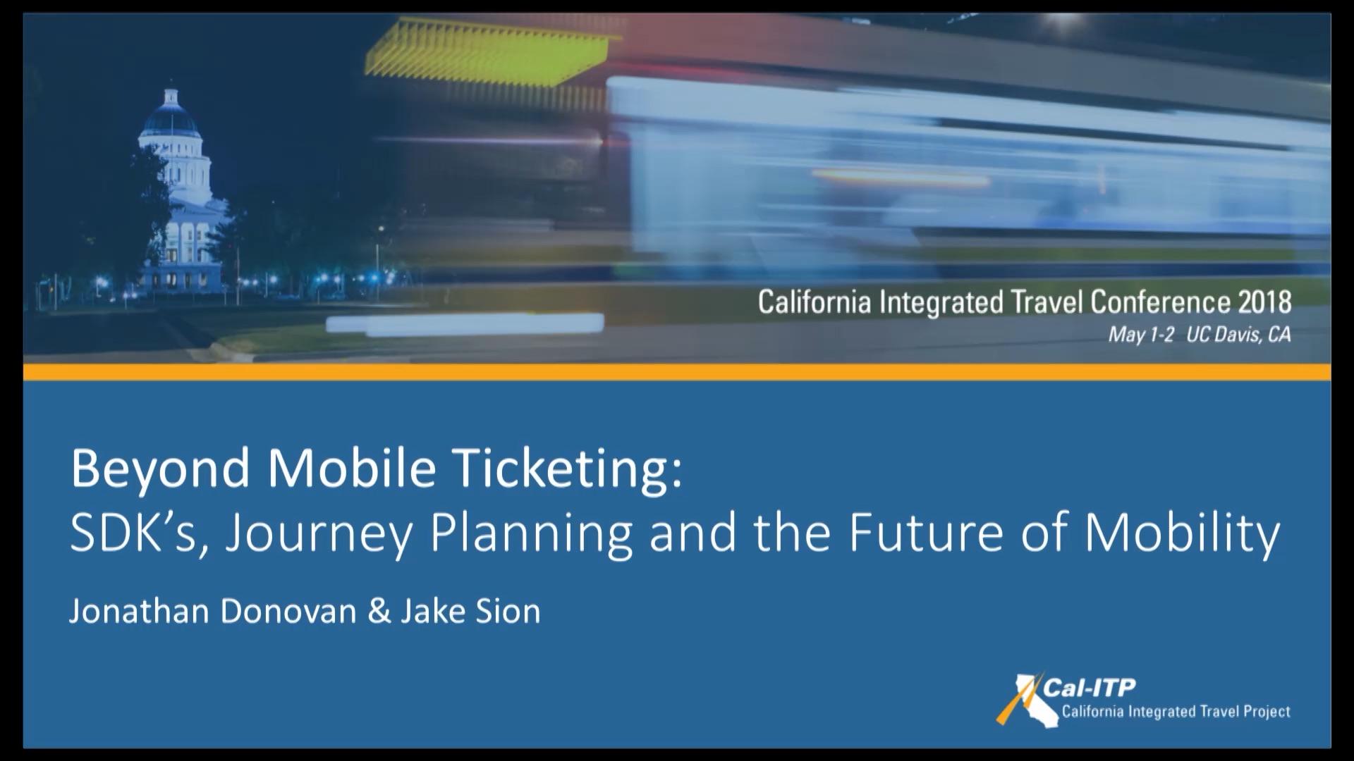 25. Beyond Mobile Ticketing