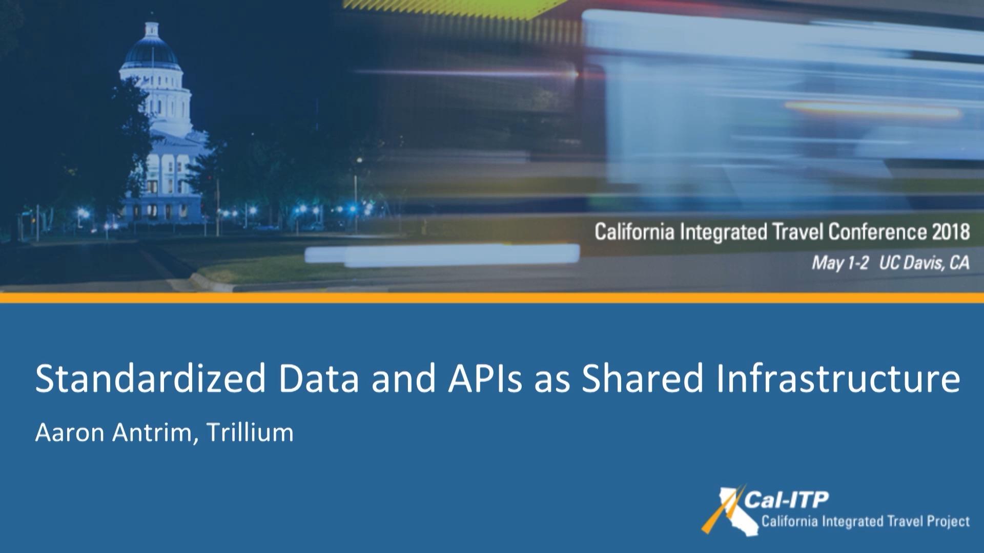 27. Standardized Data & APIs