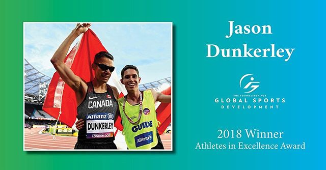 In our latest #AthletesInExcellence profile, we spotlight Jason Dunkerley, who works with #achillesottawa and @blindsports , to coach and encourage runners with visual impairment.  #jasondunkerley #adaptivesports #paralympic #marathon #Ottawa #Ontario  Read more about Jason, and all of our other Athletes in Excellence, at our blog (link in bio).
