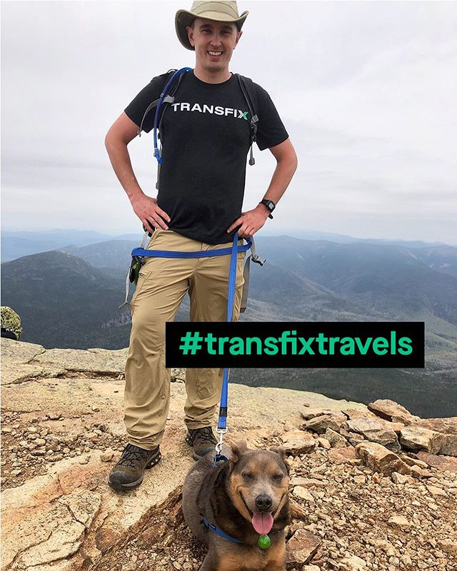 When he's not managing our Business Ops team, you'll find Kevin and his dog, Ollie, traveling (and representing Transfix, of course!) Recently, they climbed in the beautiful White Mountain National Forest. #transfixtravels