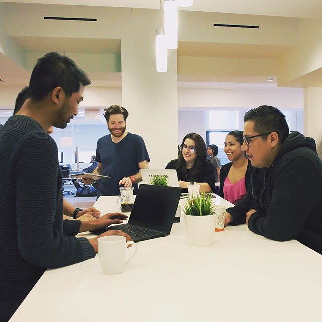 Sometimes, a brainstorm is just better in the café! (Nothing personal, conference rooms) #TGIF #LifeAtTransfix