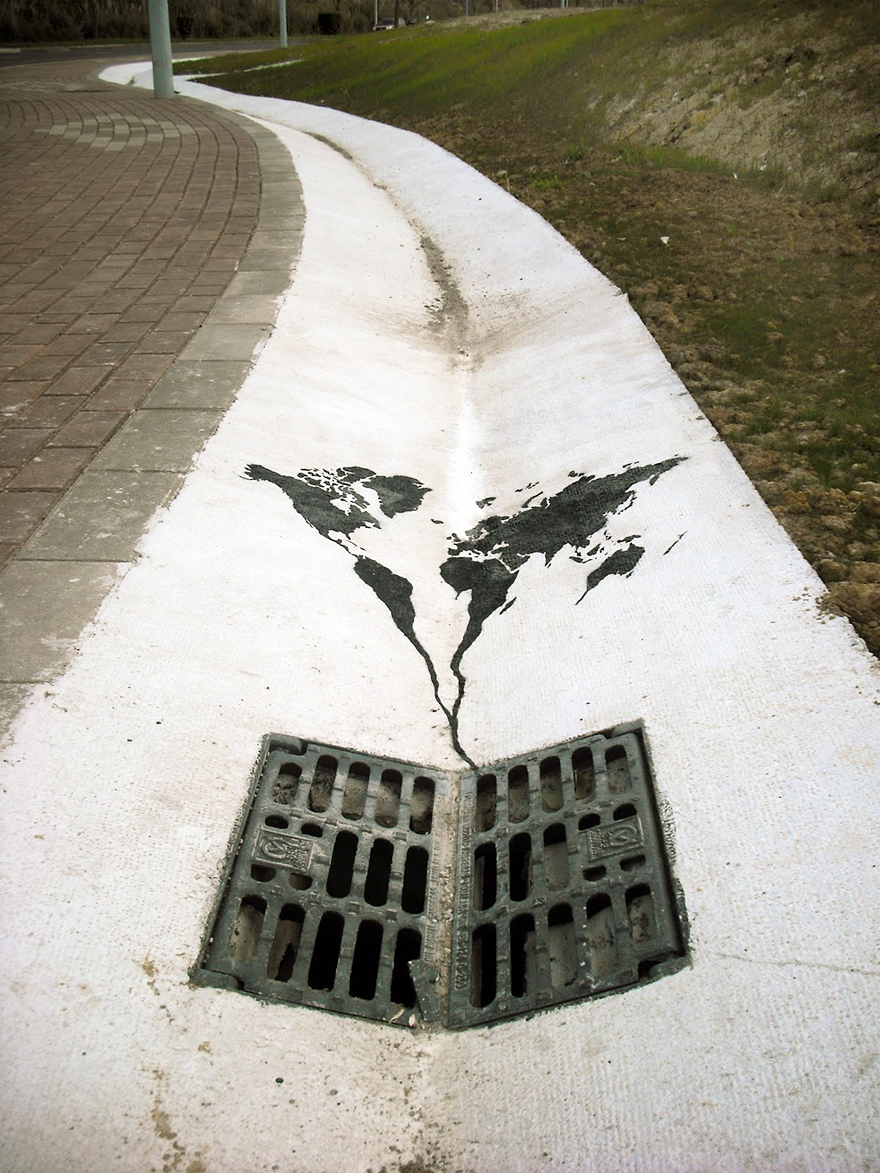 The World is Going Down The Drain by Pejak