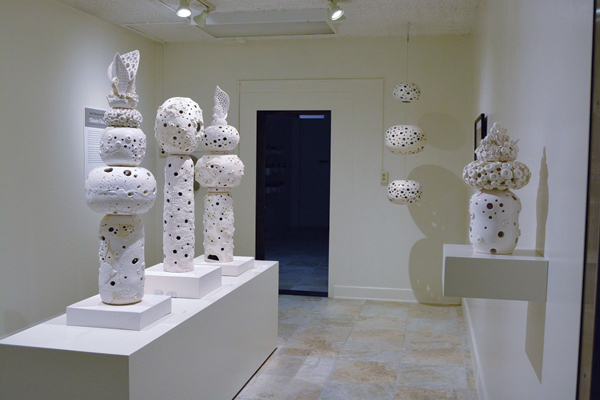 Climate Change installation at the American Museum of Ceramic Art, in Pomona, California, 2017