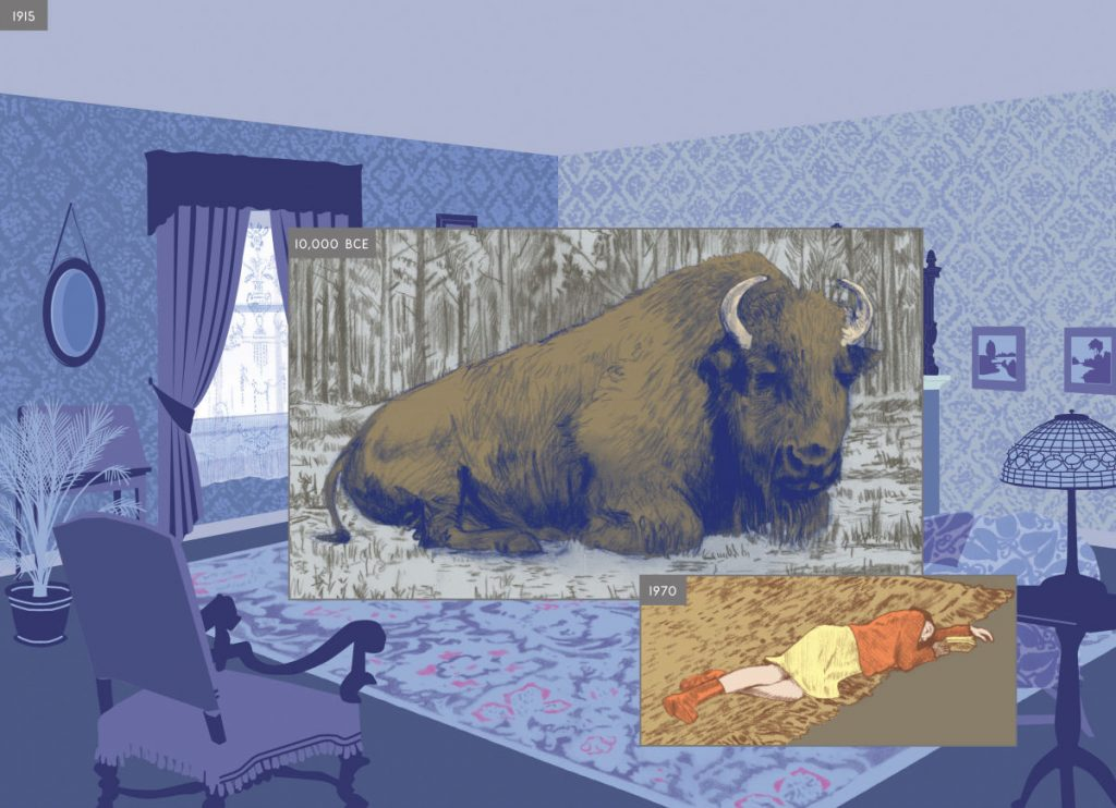 page from  Here  by Richard McGuire, 2014