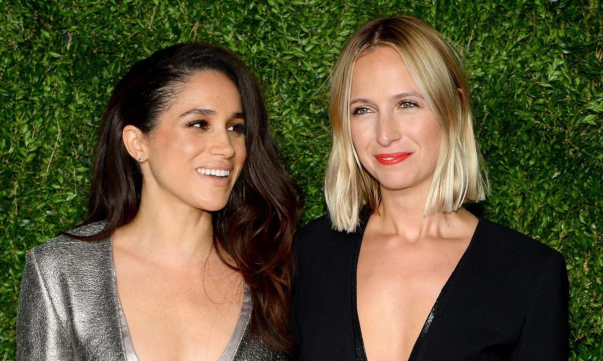 Her Royal Highness,  the Duchess of Sussex Meghan Markle and sustainable fashion designer Misha Nonoo