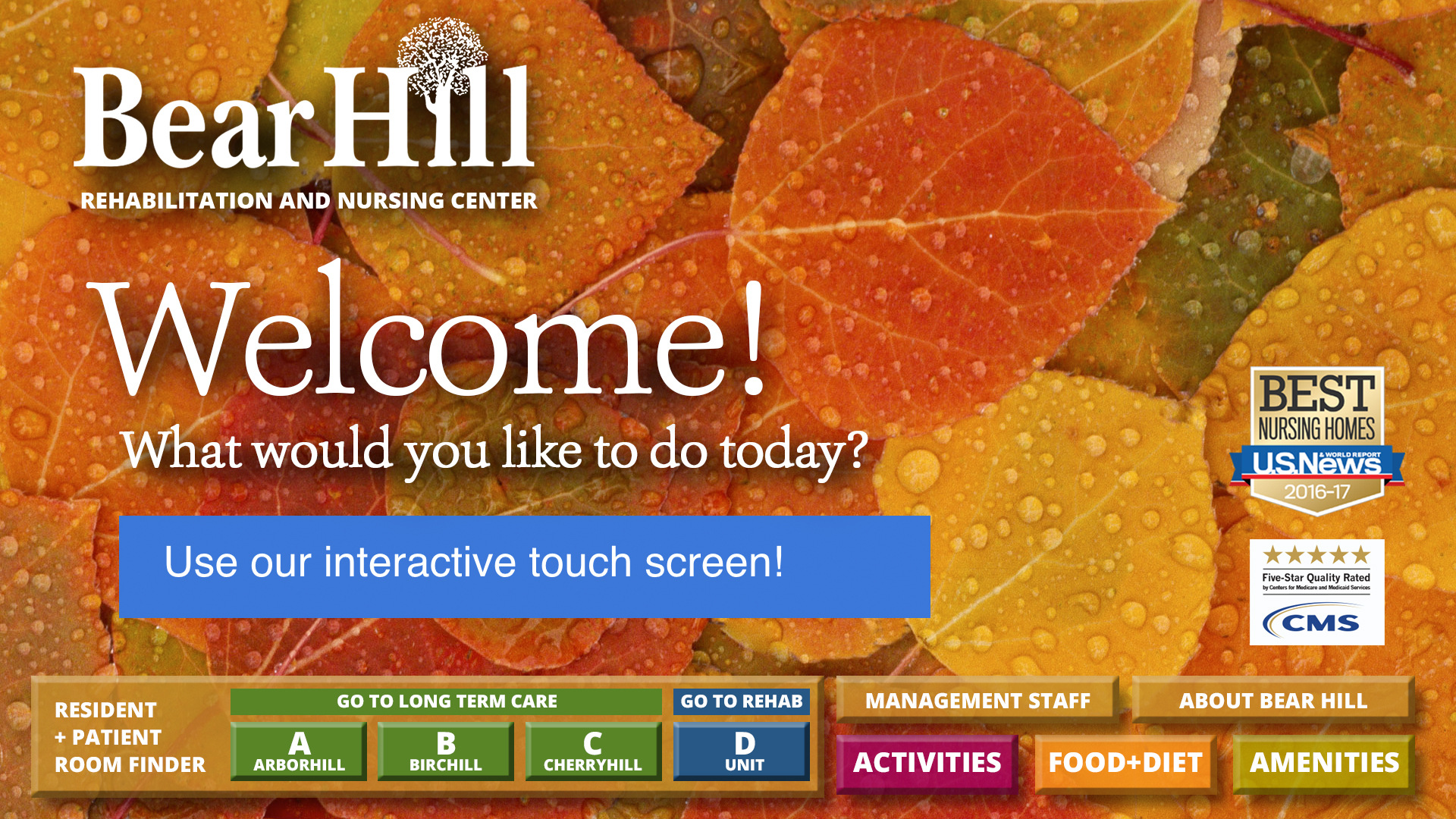 Bear Hill Interactive Touchscreen Digital Display for Lobby