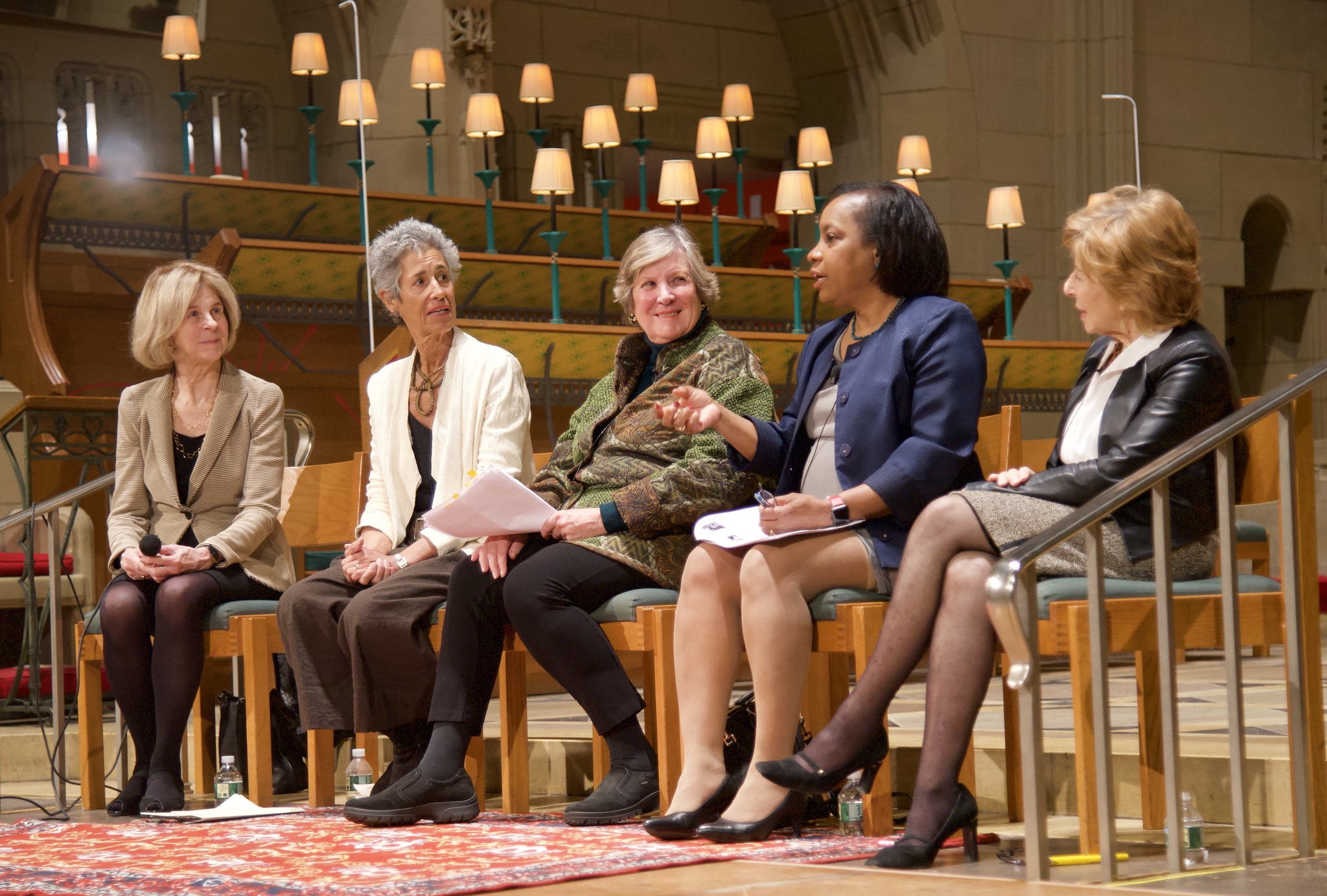 Panel Discussion on Opportunities and Challenges for Women Over 50 : Dr. Janice Steil, Elaine Pagels, Marilynn Preston, Gayle Robinson, and Gail Sheehy. March 14, 2019.