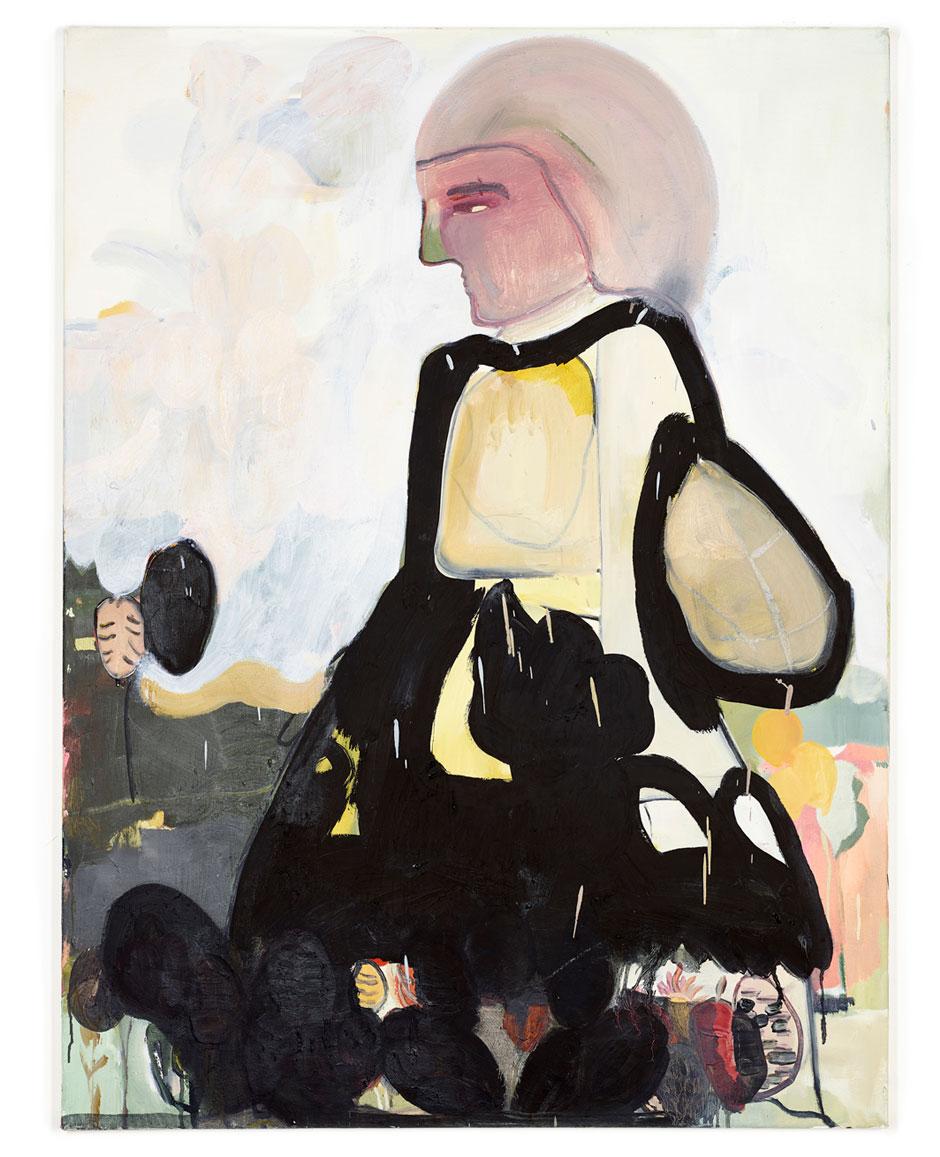 Elisabeth Lecourt | Artist | London | Marquise et Oeufs en Noir Chocolat | Oil On Canvas 101x76cm | www.elisabethlecourt.com.jpg