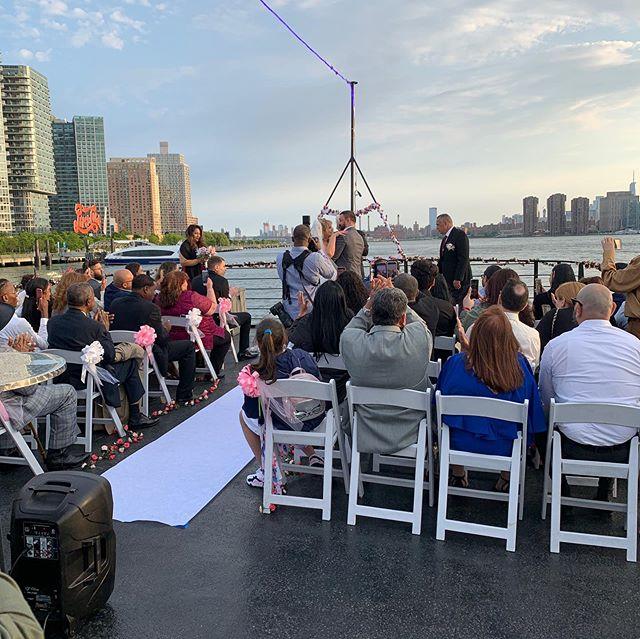 Wedding season is in full swing at Empire Cruises #nyc #wedding #weddingstyle #weddingonaboat #weddingreception #weddingsinnewyork #weddingdecor