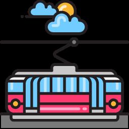 Tram graphic.