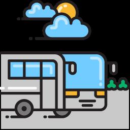 Bus graphic.