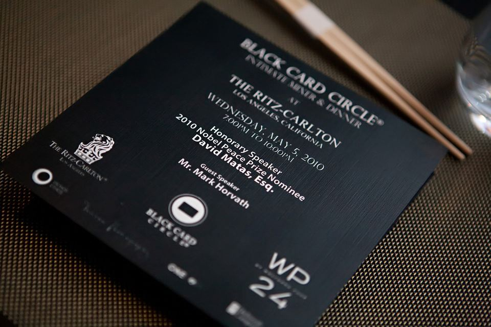 Black Card Circle Los Angeles Ritz-Carlton