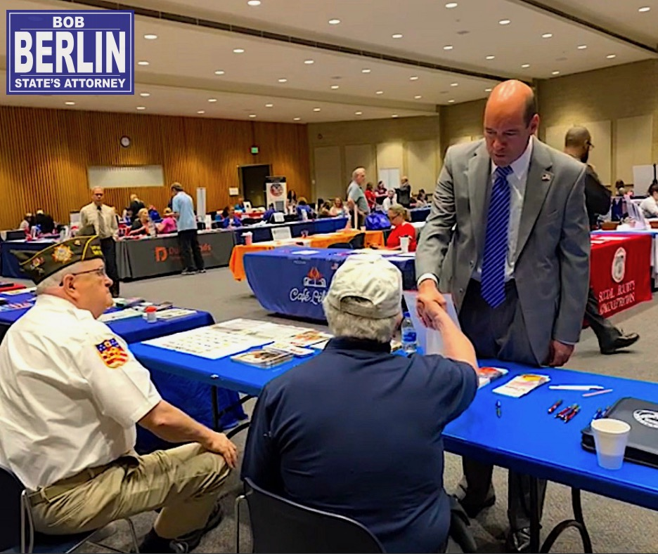 Bob visits with veterans during the July 10th event.